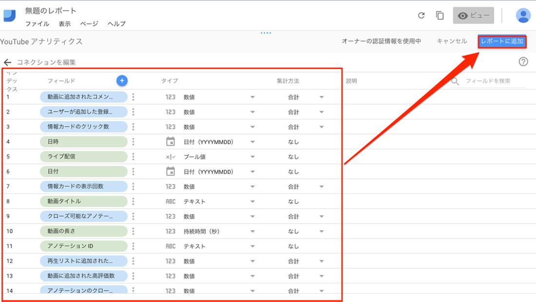 Google Data Studioの使い方 フォーマット選択